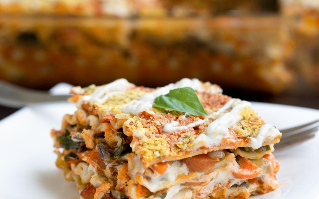 Gluténmentes vegán lasagna