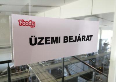 Foody üzembejárat