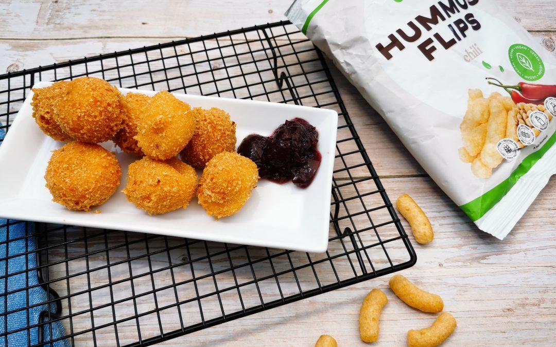 Chilis sajtgolyó Foody Free Hummus flips chilis panírral
