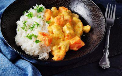 Sütőtökös, currys csirkemell